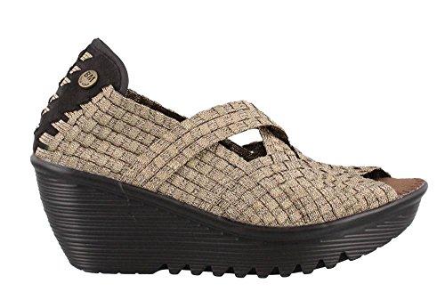 Bernie Mev Dames, Calypso Slip On Shoe Bronze