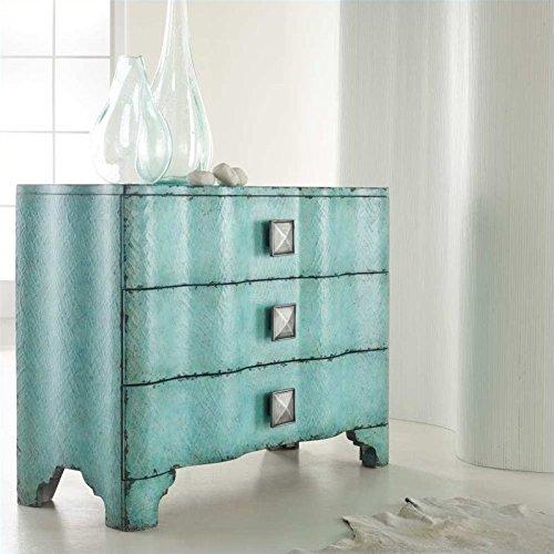 Hooker Furniture Melange Turquoise Crackle Accent Chest in Turquoise by Hooker Furniture