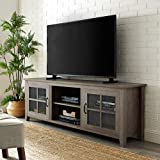 "70 inch tv stand WE Furniture TV Stand, 70"", Grey Wash"
