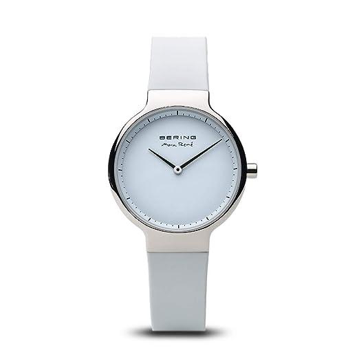 BERING Reloj Analógico para Mujer de Cuarzo con Correa en Silicona 15531-904: Amazon.es: Relojes