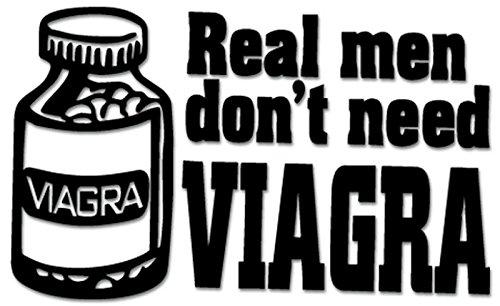 Price comparison product image Men Viagra Vinyl Decal Sticker For Vehicle Car Truck Window Bumper Wall Decor - [20 inch / 50 cm Wide] - Matte WHITE Color