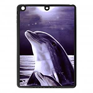 iphone 4/4s Air Covers TPU Back Protective-Cute Dolphin Patterned Sunset Ocean Sea Case Perfect as Christmas gift(2)