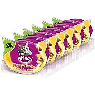 Whiskas Katzensnacks Knuspertaschen mit Huhn & Kase, 6 Packungen (6 x 72 g) 2