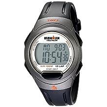 Timex Men's T5K607 Ironman Essential 10 Full-Size Black/Orange Resin Strap Watch