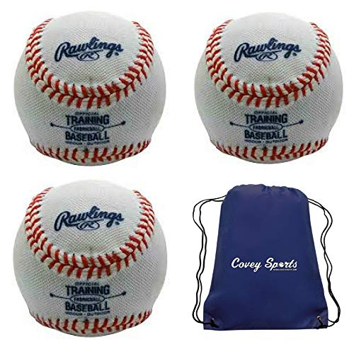 Baseballs Foam Training (Indoor Soft Core Fabric-Covered Training Baseballs from Rawlings (3-Pack))