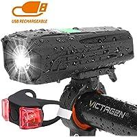 Victagen USB Rechargeable Bike Light & Taillight Set