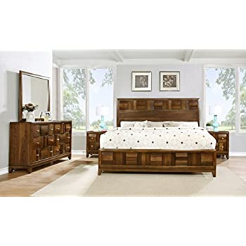 roundhill furniture calais solid wood bedroom set with bed dresser mirror 2