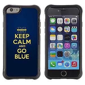 Suave TPU GEL Carcasa Funda Silicona Blando Estuche Caso de protección (para) Apple Iphone 6 / CECELL Phone case / / Gold Yellow Keep Calm Quote Motivational /