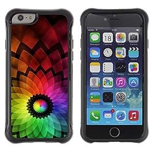 "Hypernova Defender Series TPU protection Cas Case Coque pour Apple Iphone 6 PLUS 5.5 [Flor colorida abstracta""]"