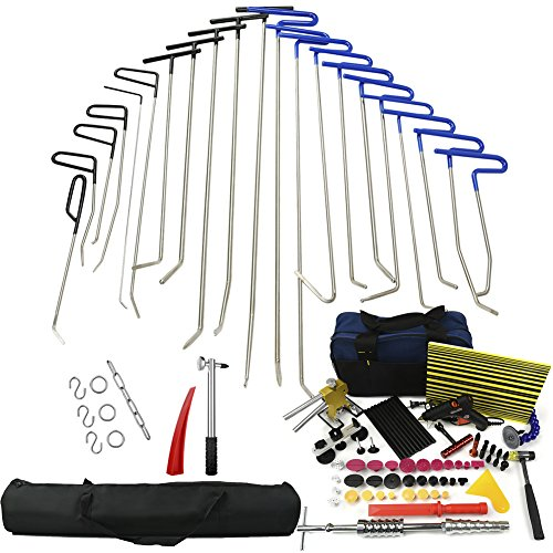 Wcaro Automotive Paintless Dent Repair Tools Kit Dent Remover Hail Repair Tool PDR Rods Professional PDR Tools Ding Dent Repair Rods Paintless Hail Removal Big Kit(A2-A6,B2-B11,C1-C6) by Wcaro (Image #8)