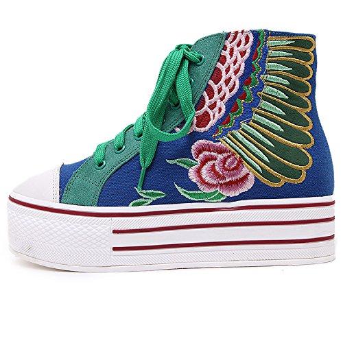 GTVERNH-Zapatos con suelas gruesas panecillo zapatos casuales mayorLuz verdeTreinta y ocho Treinta y seis