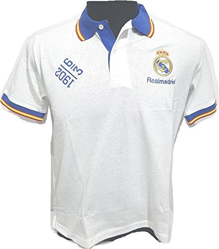 REAL MADRID POLO OFICIAL Blanco (Talla mediana): Amazon.es ...
