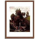 アルノルト・ベックリン 「Altromische Maifeier. 1872(?). 」 インテリア アート 絵画 プリント 額装作品 フレーム:木製(茶) サイズ:M (306mm X 397mm)