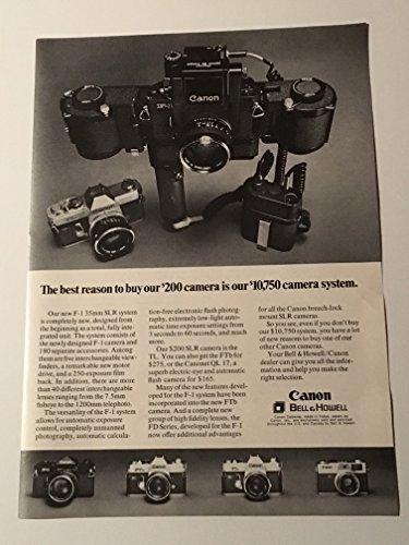 (1971 Canon Bell & Howell F-1 35mm SLR Camera System Magazine Print Advertisement)
