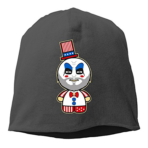 Cute Hello Riders Men Women Daily Beanie Hat, Skull Cap ( 6 Colors ) Black