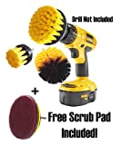 Drill Brush: Drill Brush Attachment, Power Scrubbing Drill Attachment, Drill Scrubbing Brush, Power Scrubber Brush, Power Scrubber Cleaning Kit for Bathroom, Tile, Grout, Carpet, Kitchen, Tires