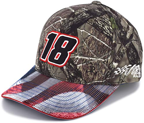 - Checkered Flag Kyle Busch 2019 Patriotic TrueTimber Camo #18 NASCAR Hat