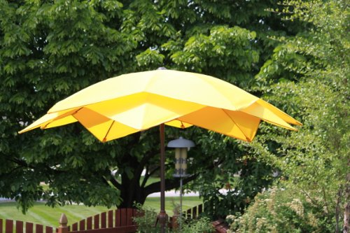 Awesome Amazon.com : 8u0027 Wind Resistant Lotus Fiberglass Patio Umbrella   Yellow :  Garden U0026 Outdoor