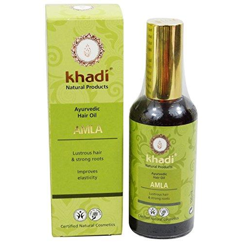 Khadi - Herbal Hair Oil Amla - Strengthening & Protecting - Prevents Premature greying - Helps Against Dandruff