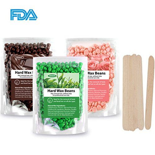 Hard Wax Beans Painless Hair Removal Ideal ultimate method for Removal of All Types of Hair Easy Depilatory and 10pcs Stickers 300g