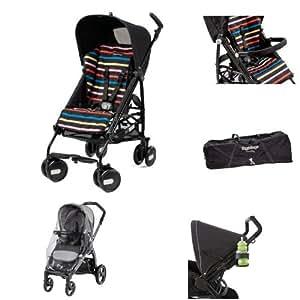 Amazon.com : Peg-Perego Pliko Mini Stroller, Neon Bundle