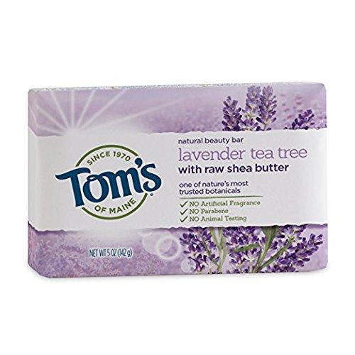 - Tom's Natural Beauty Bar Soap, Lavender Tea Tree, 5 Oz (Pack of 2)