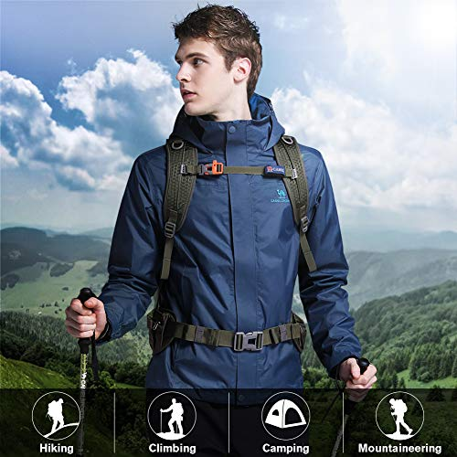 f61d154ee70cf CAMEL CROWN Mens Waterproof Jacket Hooded Windbreaker Windproof Rain Coat  for Outdoor Hiking Climbing Traveling Traveling