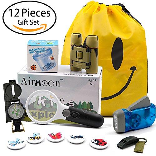 Airmoon Kid Explorer Kit  Outdoor Adventure Set  Pack Of 12  For Explorer Backyard  Famliy Hiking Trip  Camping  Gift Box
