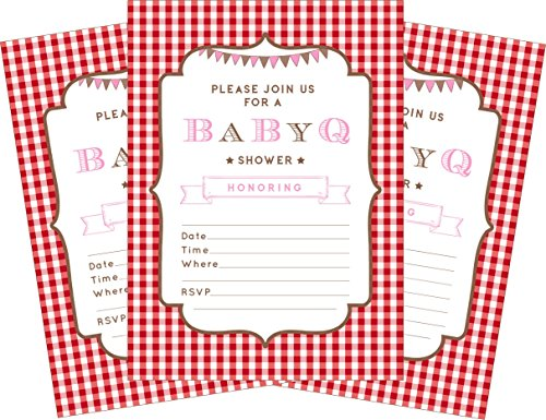 BBQ Baby Pink 5x7 Baby Shower Invitations -
