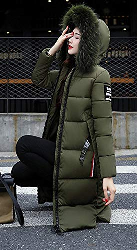 Cappotti Cappuccio Abbigliamento Donna Piumino Tasche Transizione Laterali Dunkelgrün Stile Moda Invernali Giacca Modern Lunga Di Con Giacche Cerniera Manica Puro Colore vataxqw