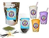 10+ Drinks Vanilla Green Tea Latte Boba Tea Kit: Tea Powder, Tapioca Pearls & Straws By Buddha Bubbles Boba