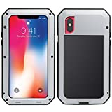 Best Cases With Aluminum Covers - MRSMR iPhone X Case, 360 Aluminum Metal Protective Review