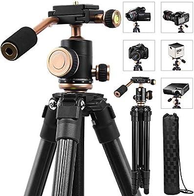 Trípode de cámara compacta ligero, soporte de proyector portátil ...