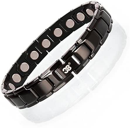 Elegant Stainless Steel Magnetic Bracelet for Men Therapy Bracelet Pain Arthritis Relief with Free Link Removal Tool