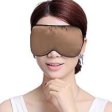 Firstsight Comfortable Soft Silk Sleep Eye Mask Eyeshade Blinder for Women and Men Cold Hot Compress Sleeping Masks Brown