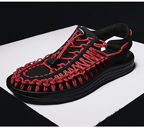 Ocio Camping Rojo Tamaño De 40 color Zapatos Hombre 44 Ajustable Tejido Diseño 38 Libremente Verano Recorte Zjm Sandalias Rojo Tamaño Caballero Respire qUtzCpwwH