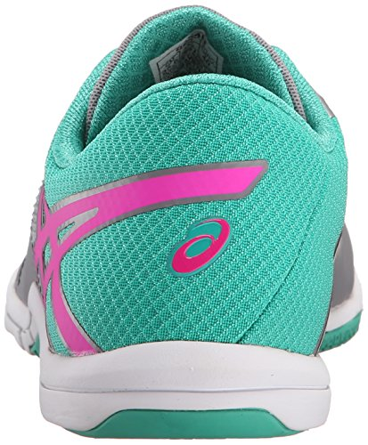Asics mujer met-conviction cross-trainer Shoe Taupe/Pink Glow/Peacock Green