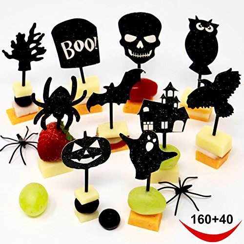 200-Halloween-Party-Decorations-Halloween-Party-Supplies-10-Designs-160-Halloween-Cupcake-toppers-Halloween-picks-40-Halloween-napkins