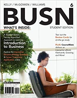 Busn 6 with coursemate printed access card new engaging titles from busn 6 with coursemate printed access card new engaging titles from 4ltr press amazon jim mcgowen marcella kelly chuck williams books reheart Image collections