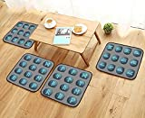 UHOO2018 Luxurious Household Cushions Chairs Magical Runic Stones for Game Design Soft and Comfortable W31.5 x L31.5/4PCS Set