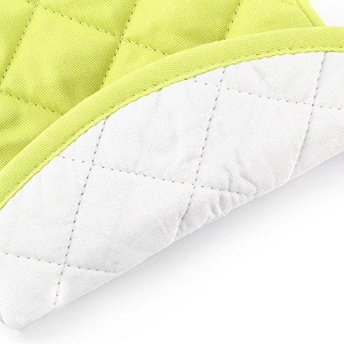 K/&C Ofenhandschuh mit rutschfestem Silikongriff Hitzebest/ändige Ofenhandschuhe bis 500 /° F 2er-Pack