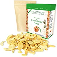Freeze Dried Peach: Delicious Fruits 1.8oz (50g) Large Bulk Re-Sealable Bag in a Sturdy Protective Box: Taste Like Fresh Peaches, the Ultimate Snack and Breakfast. Original Green Top Quality
