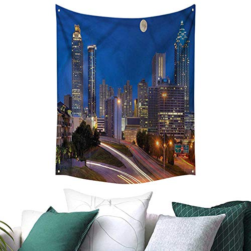 Cosmopolitan Wall Maps (sunsunshine Landscape Wall Tapestry Cosmopolitan Cityscape 40W x 60L INCH,Home Decorations for Living Room Bedroom)