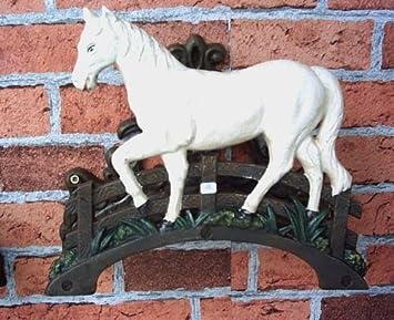 Jardín pared soporte para manguera (Hierro Fundido caballo: Amazon.es: Jardín