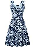 Kyпить FENSACE Womens Sleeveless Summer Beach Paisley Dress, 18016-3, Large на Amazon.com