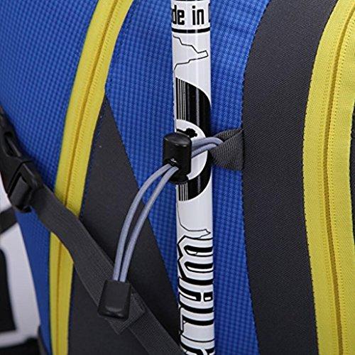 Outdoor Wandern Klettern Rucksack Radfahren Rucksack Wasserdichte Bergsteigen Tasche 42L Unisex Hochleistungs-Reisetasche blue l4rMWEzaM