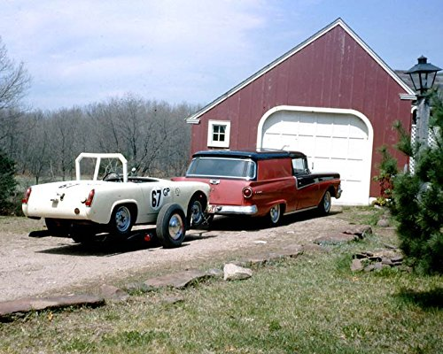 1958 Ford Courier & 1962 MG Midget Race Car Photo Poster