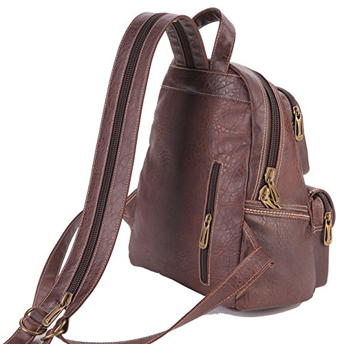 Lycailcy LYC-Lycailcy-80293-5 - Bolso mochila  para mujer Marrón Light Brown(9.3 x 5.5 x 11.8 inches) talla única Camel(9.3 x 5.5 x 11.8 inches)