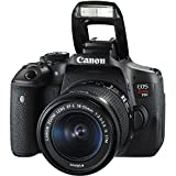 Canon EOS Rebel T6i DSLR Camera with Canon EF-S 18-55mm f/3.5-5.6 IS STM Lens + Wide Angle Lens + 2x Telephoto Lens + 32GB SD Memory Card + New Accessories Bundle