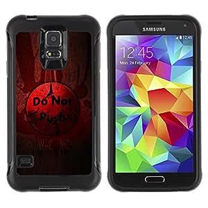 Suave TPU Caso Carcasa de Caucho Funda para Samsung Galaxy S5 SM-G900 / Do Not Push Button / STRONG